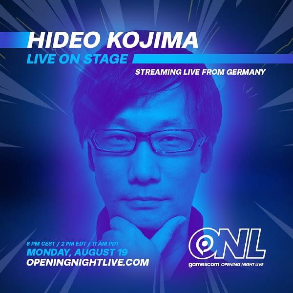 Hideo Kojima Confirmed For Gamescom 2019 Appearance