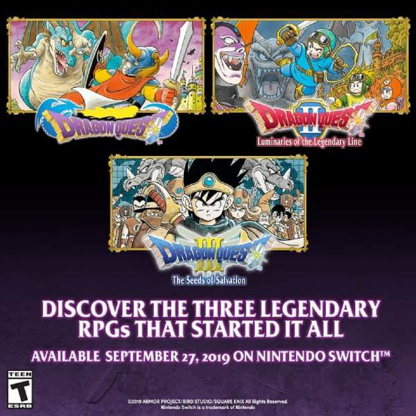 """The First Three """"Dragon Quest"""" Games Are Coming To The Switch"""
