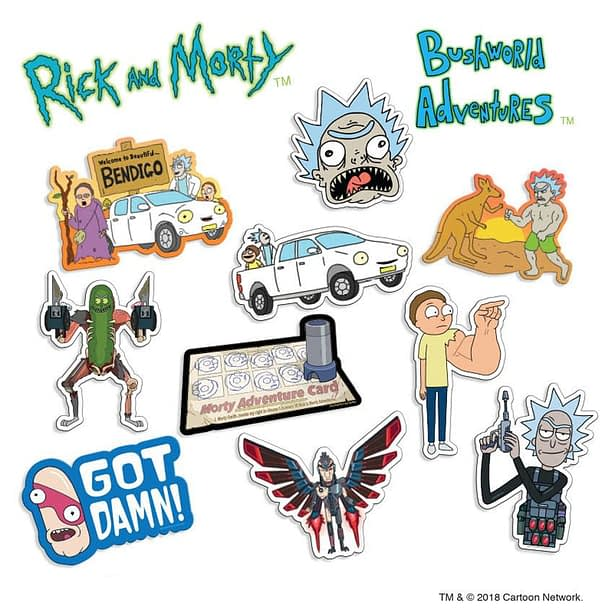 Rick and Morty Bushland Adventures Die Cut Sticker Pack SDCC Hot Properties