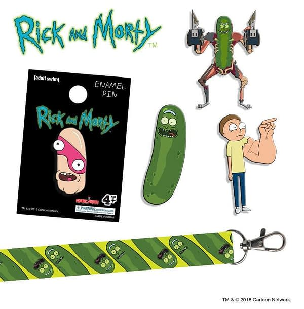 Rick and Morty Season 3 Pins SDCC Hot Properties