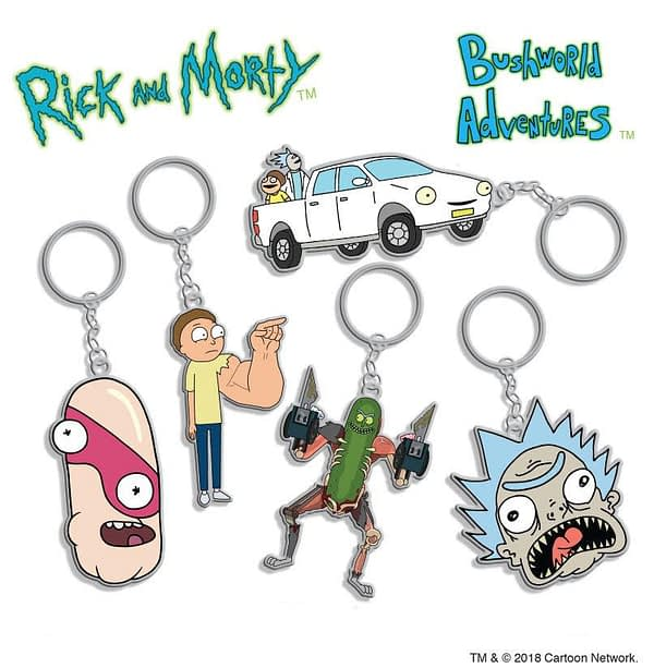 Rick and Morty Season 3 Metal Key Chains Bushland Adventure Styles SDCC Hot Properties