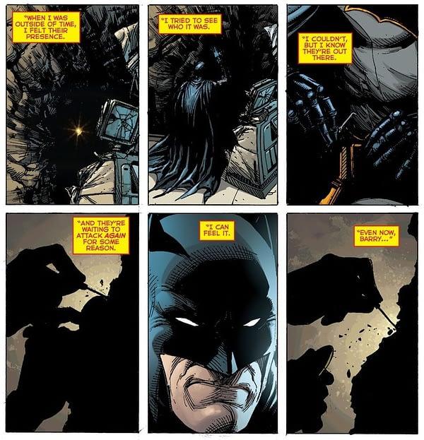 Batman 21 interior page The Button
