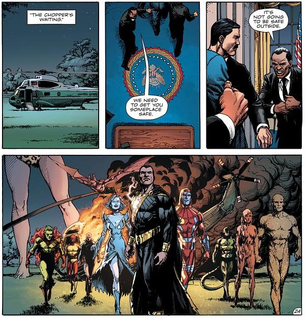 President Trump Talk Wonder Woman in Doomsday Clock #11