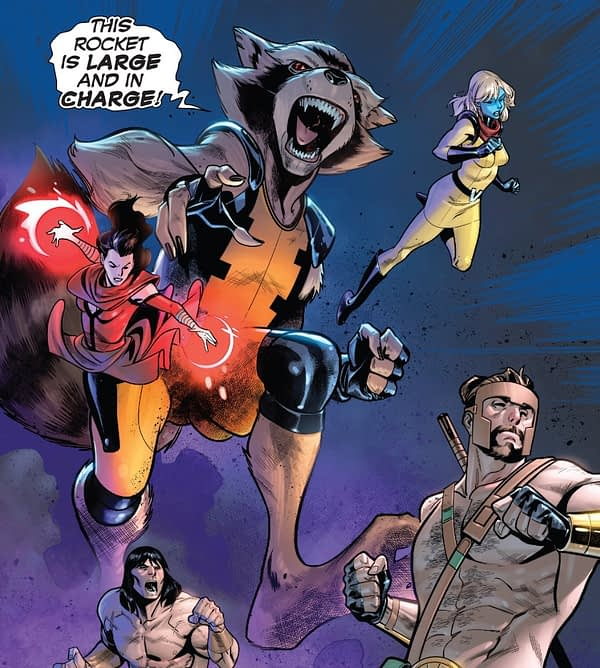 Little Rocket Raccoon Gets a Big Power Upgrade in Avengers: No Road Home #9