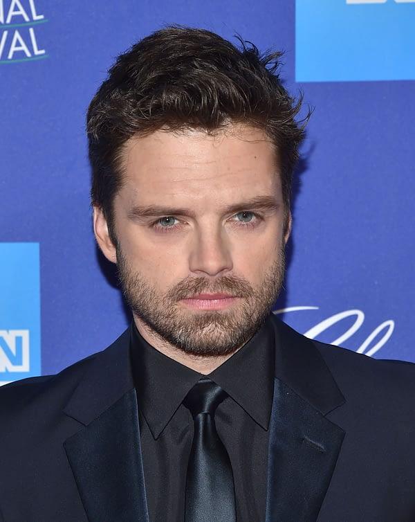 Sebastian Stan arrives for the 2018 Palm Springs International Film Festival Awards Gala on January 2, 2018 in Palm Springs, CA