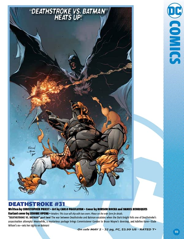 The Full DC Comics Catalogue for May 2018