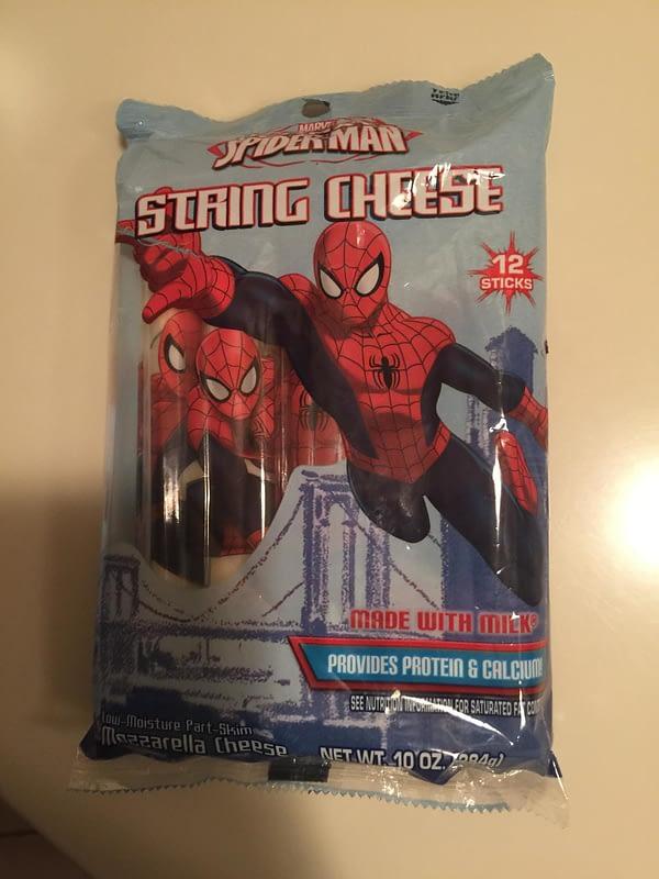 Spider-Man string cheese