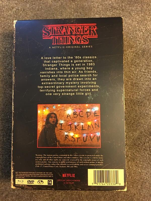 Stranger Things Season 1 target Exclusive Blu Ray 3
