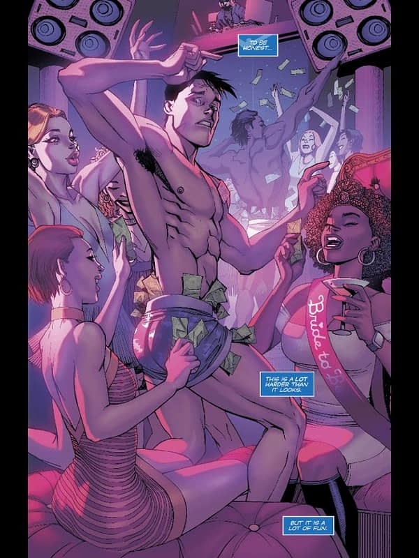 Dick the Dancer from Nightwing #38 by Bernard Chang and Marcelo Maiolo