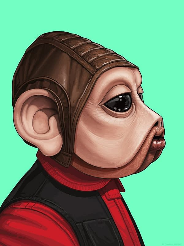 Mondo Mike Mitchell Star Wars Nien Nunb Print