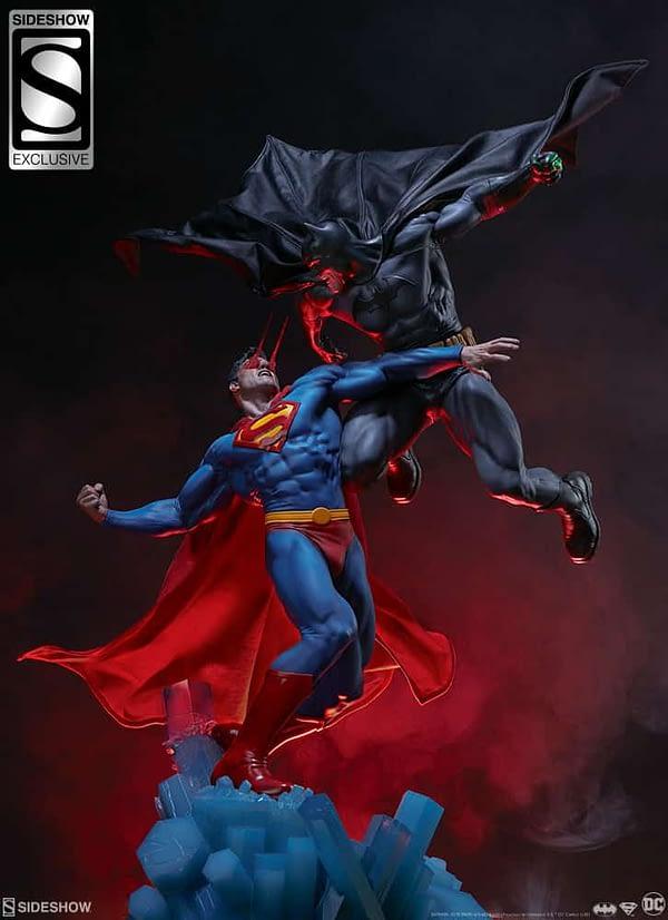 Superman Vs Batman Diorama Statue Sideshow 18