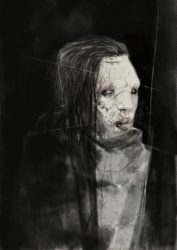 Damien Worm character sketch for new Steve Niles project.