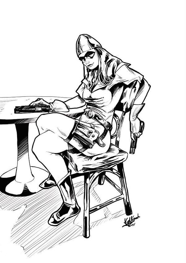 BULLET GAL by artist JGMiranda_from Heropa novel