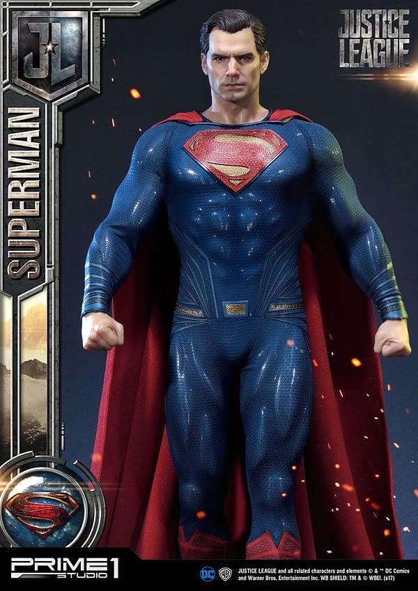 Henry Cavill superman Justice League statue