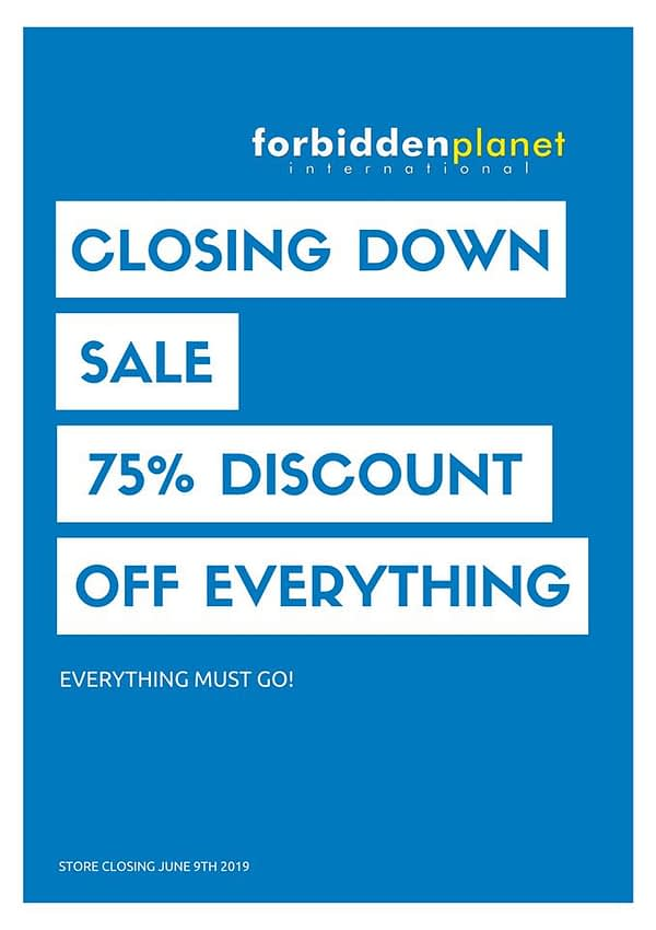 Forbidden Planet Aberdeen to Close