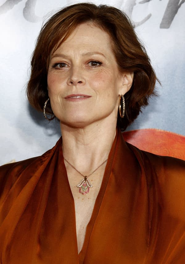 Sigourney Weaver: Chappie NY Press Conference Portraits