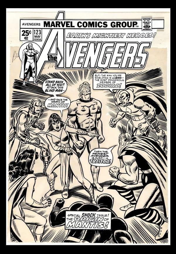 avengers Comic Connect auction