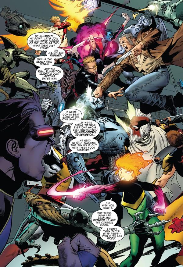 X-Men: Blue #15 art by Jorge Molina and Matt Milla