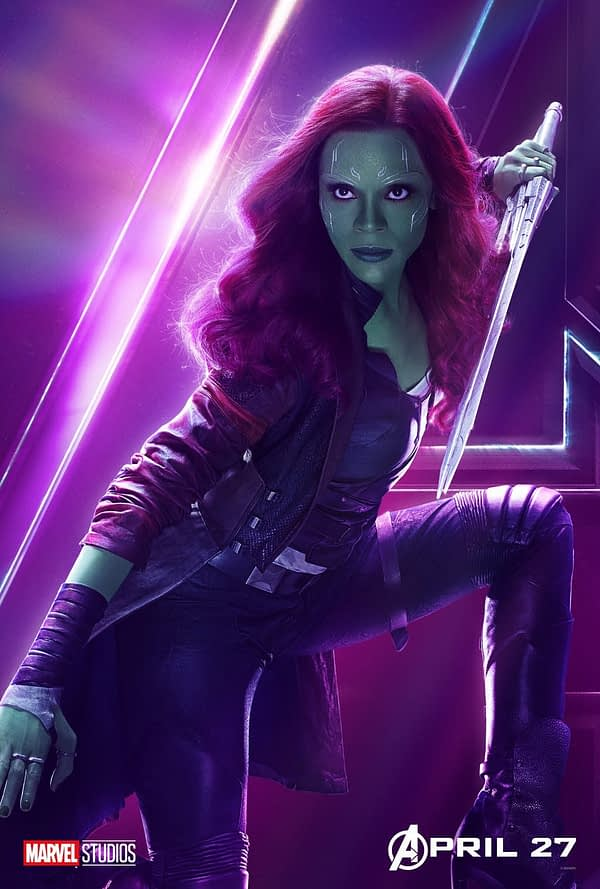 Zoe Saldana gamora poster infinity war