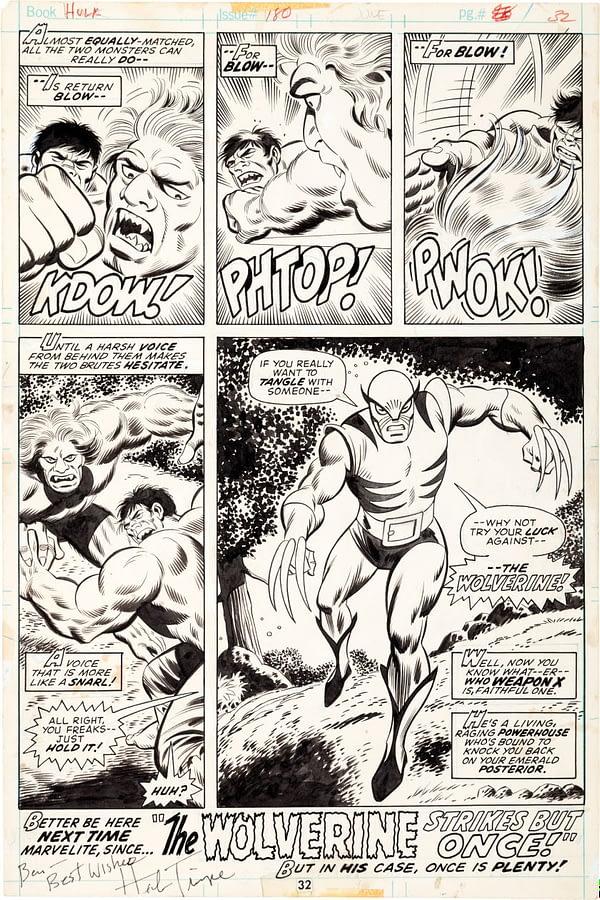 incredible-hulk-180-original-art-herb-trimpe-wolverine