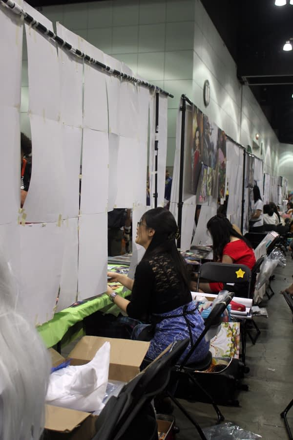 Artist Alley Behind the Booths