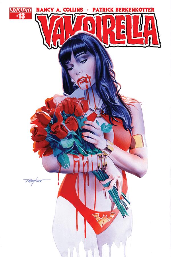 Mike Mayhew's Process Art For Vampirella #13 Cover