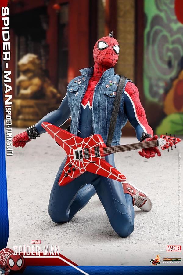 Hot Toys Spider Man Spider Punk Figure 10