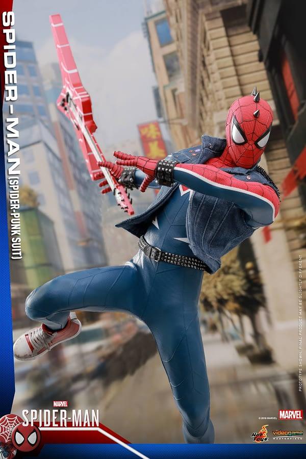 Hot Toys Spider Man Spider Punk Figure 12