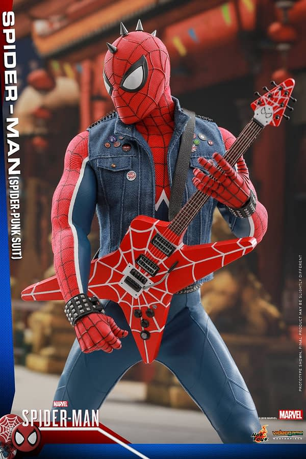 Hot Toys Spider Man Spider Punk Figure 17