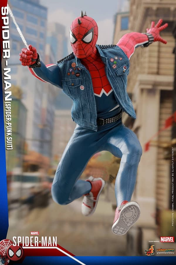 Hot Toys Spider Man Spider Punk Figure 3