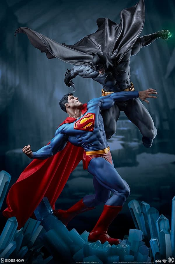 Superman Vs Batman Diorama Statue Sideshow 1