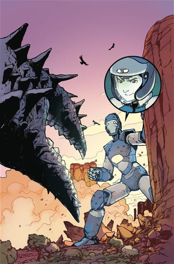 Mech Cadet Yu #4 cover by Takeshi Miyazawa and Triona Farell
