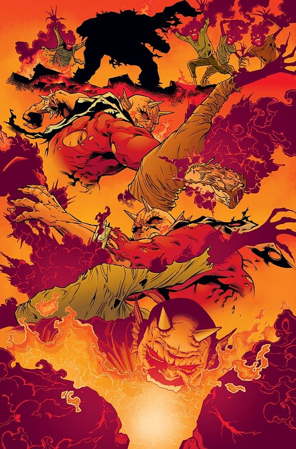 The Demon: Hell is Earth #1 art by Brad Walker, Andrew Hennessy, and Chris Sotomayor