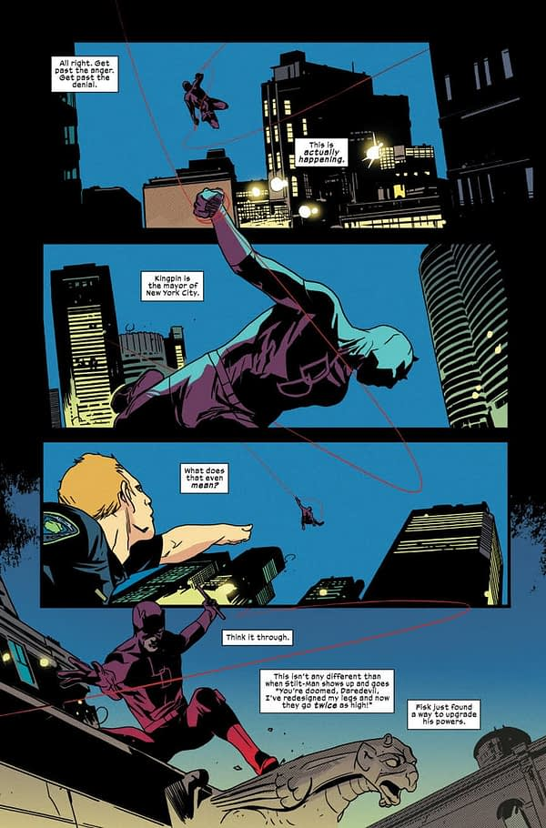 Daredevil #596 art by Stefano Landini and Matt Milla