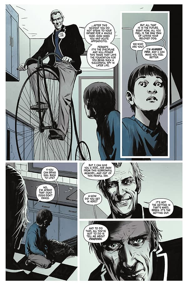 The Prisoner #2 art by Colin Lorimer and Joana LaFuente