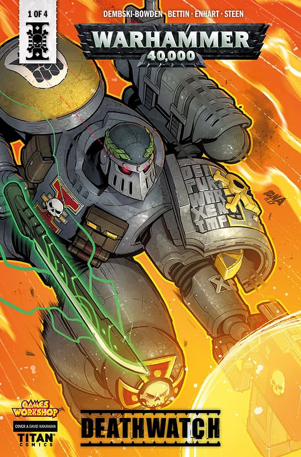 Warhammer 40000: Deathwatch #1 cover by David Nakayama