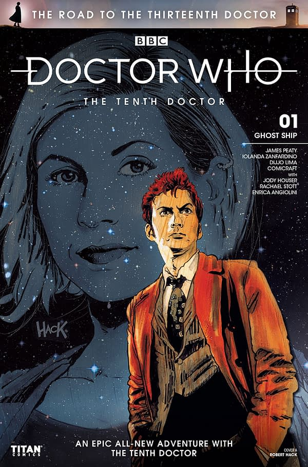 Doctor Who: The Road to the Thirteenth Doctor- The Tenth Doctor #1 cover by Robert Hack