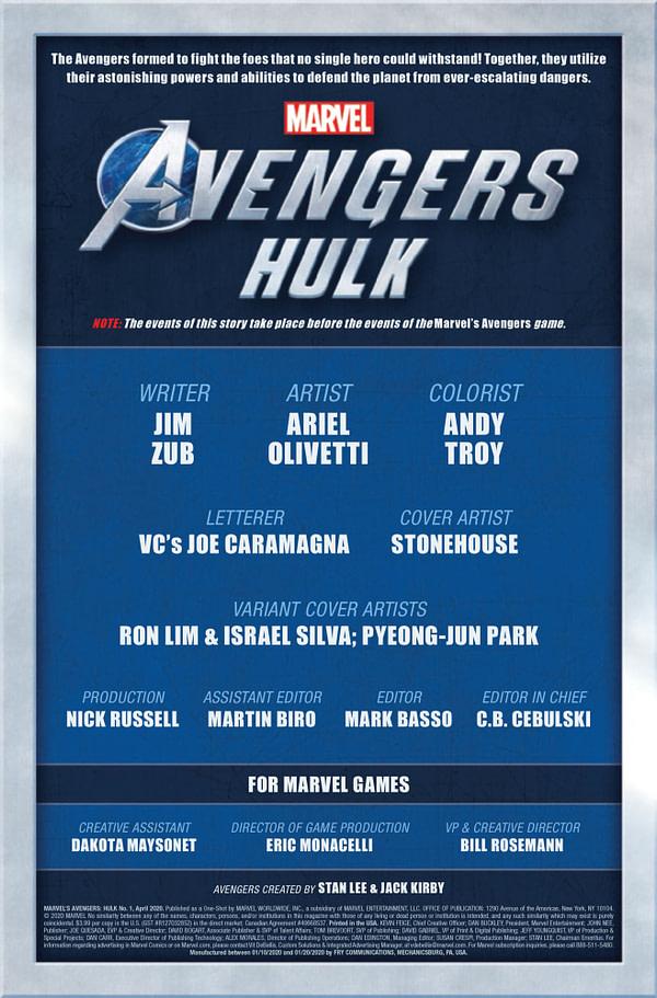 Marvel Avengers: Hulk #1 [Preview]
