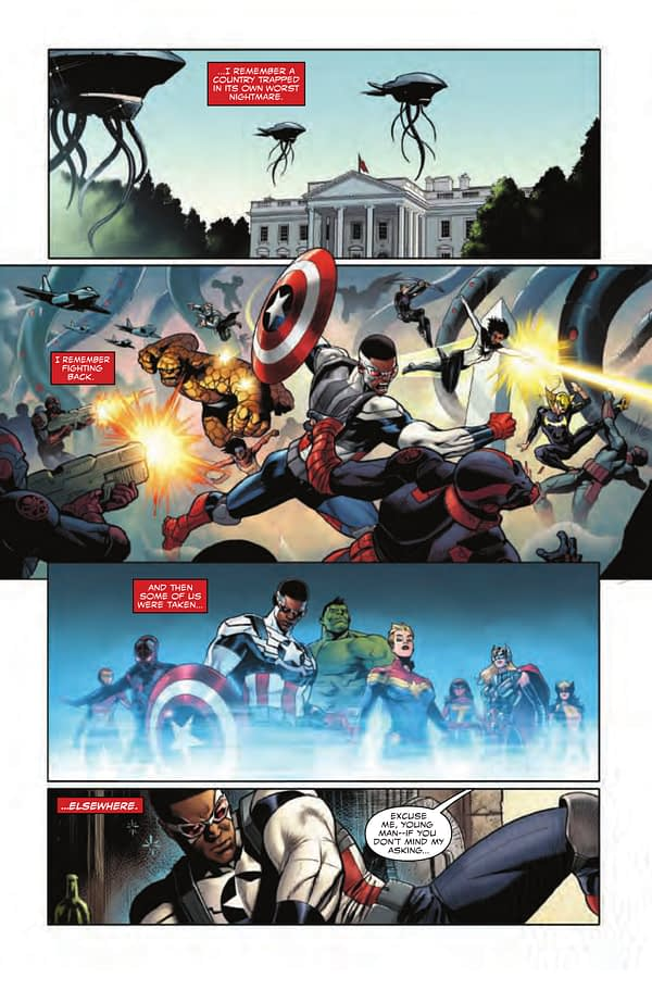 Interior art from Generations: Captain America by Paul Renaud and Laura Martin