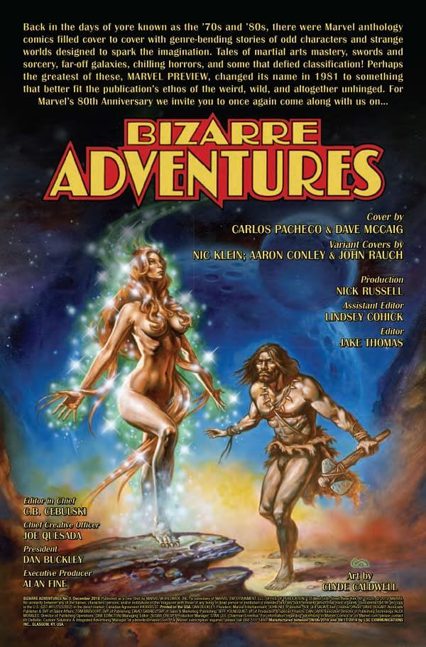 Bizarre Adventures #1 [Preview]