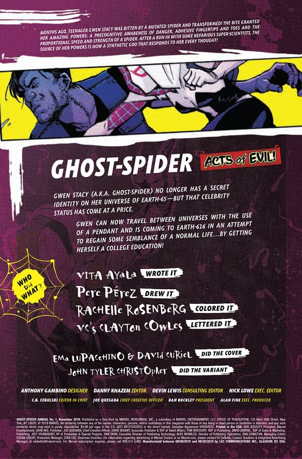 Ghost Spider Annual #1