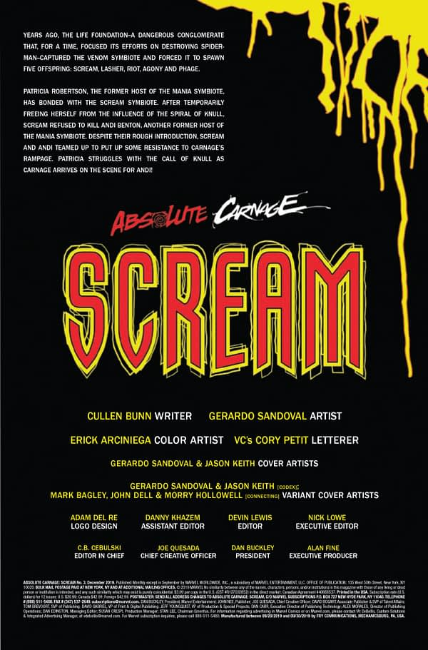 Absolute Carnage: Scream #3 [Preview]