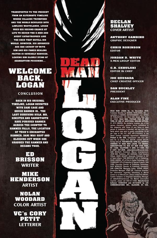 Dead Man Logan #12 [Preview]