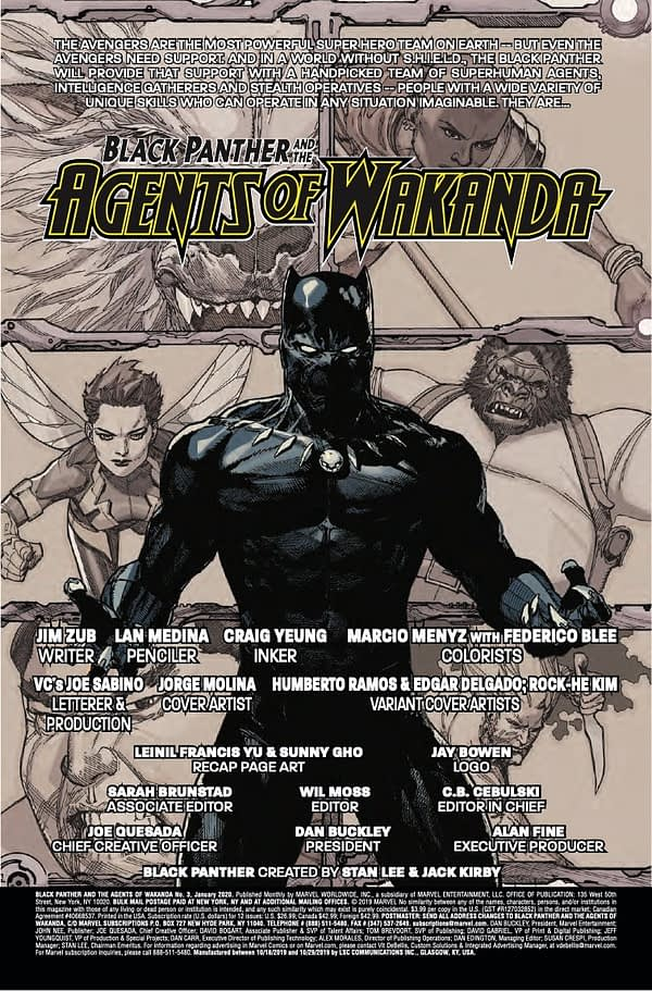 Black Panther and the Agents of Wakanda #3 [Preview]