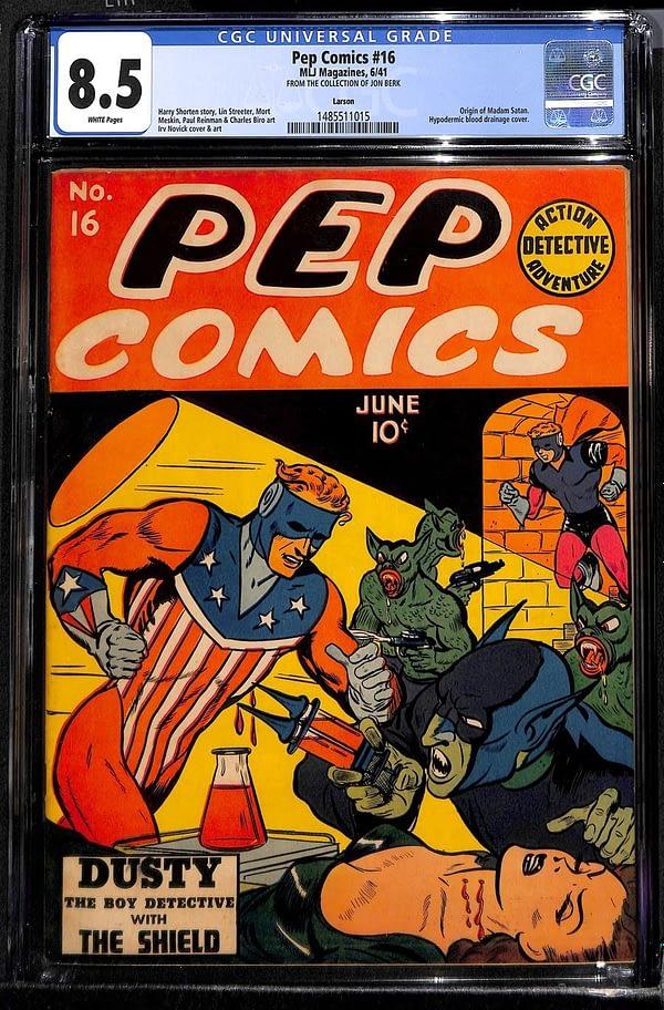 Pep Comics #16 CGC 8.5 first appearance of Madam Satan