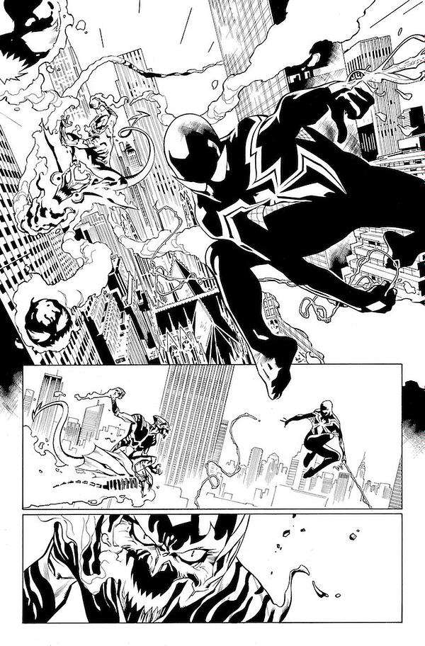 Spider-Man #800 art by Stuart Immonen