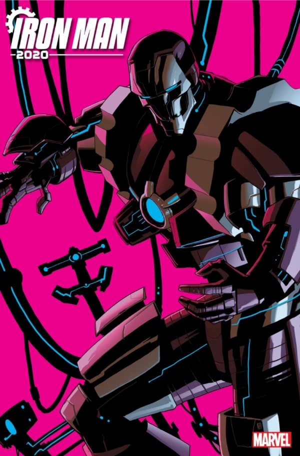 Dan Slott, Christos Gage, and Pete Woods Debut Iron Man 2020 with Arno Stark