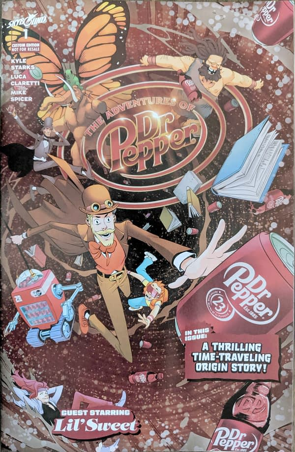 Skybound Publishes the Time-Traveling Adventures of the Doctor for SDCC... Dr. Pepper, That Is