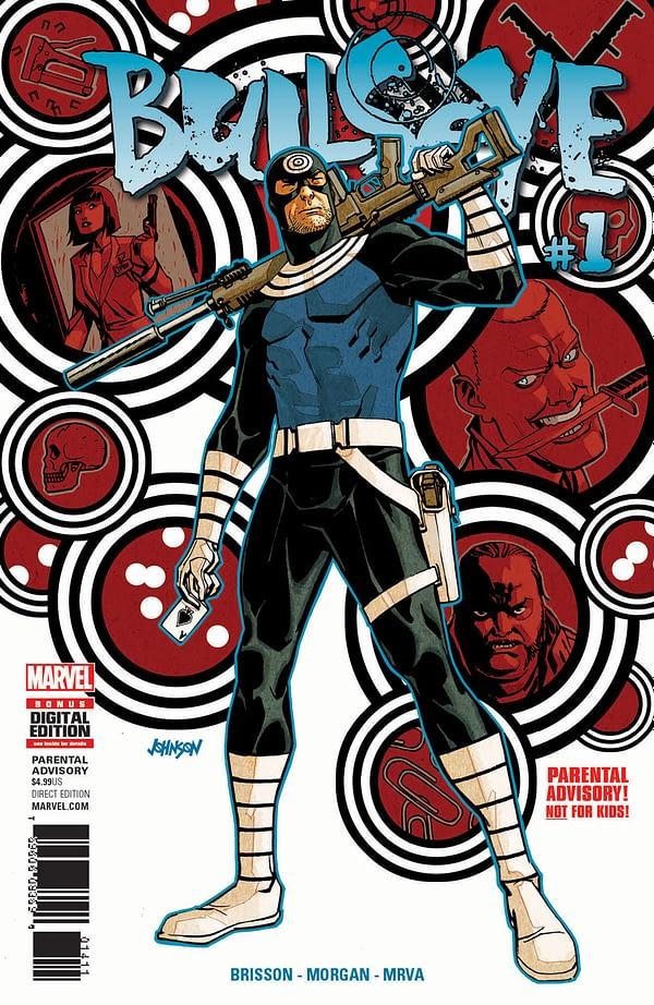 Bullseye#1 cover by Dave Johnson