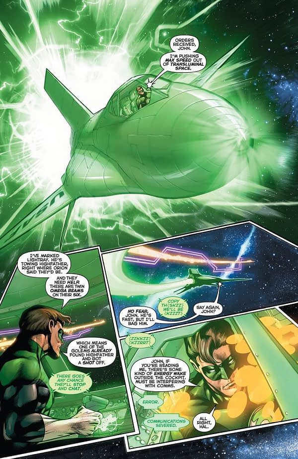 Interior art from Hal Jordan and the Green Lantern Corps #28 by Rafa Sandoval